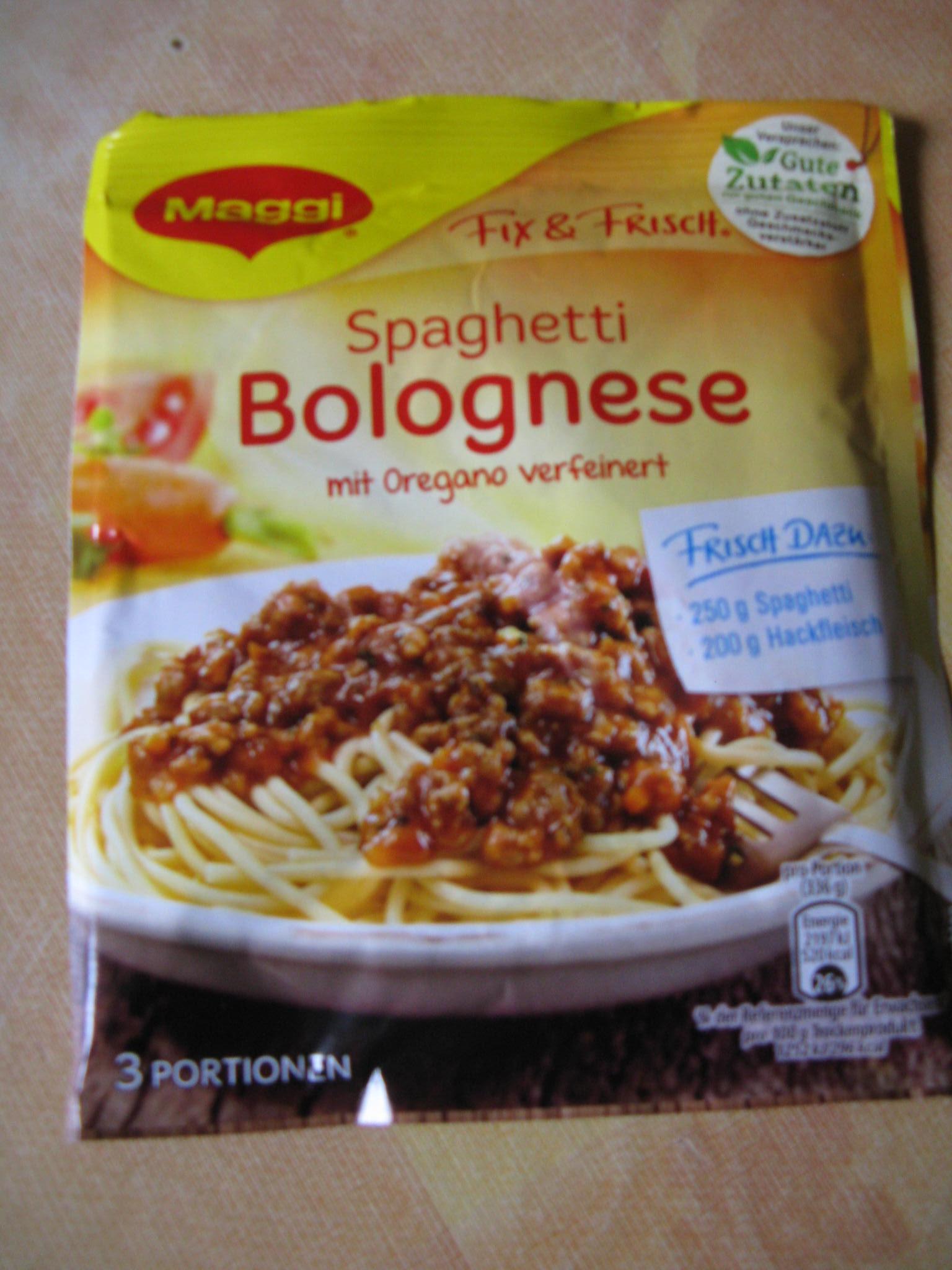 Die neue Maggi Qualität    Fix & Frisch Spaghetti Bolognese