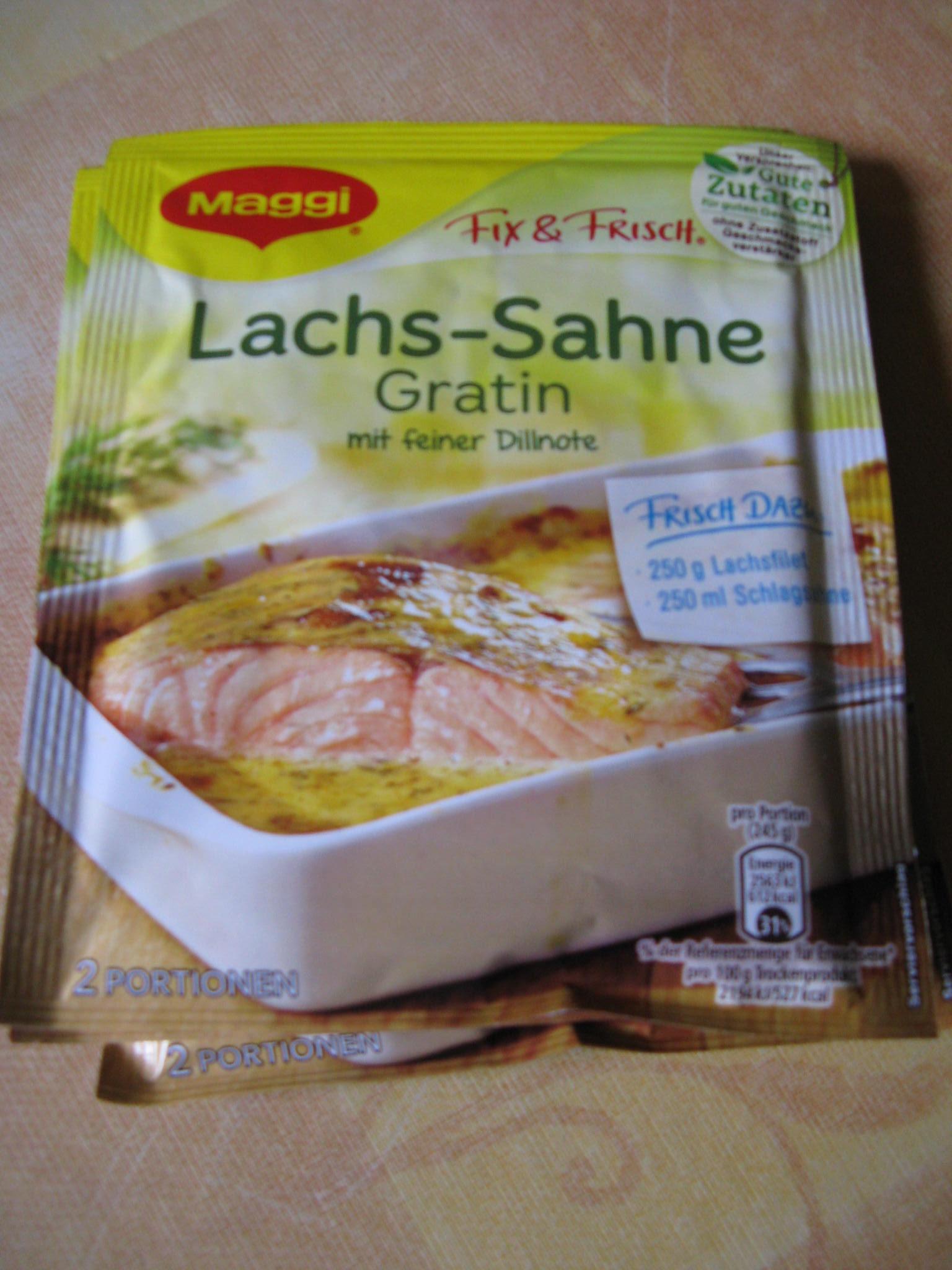 Die neue Maggi Qualität Fix & Frisch Lachs-Sahne-Gratin