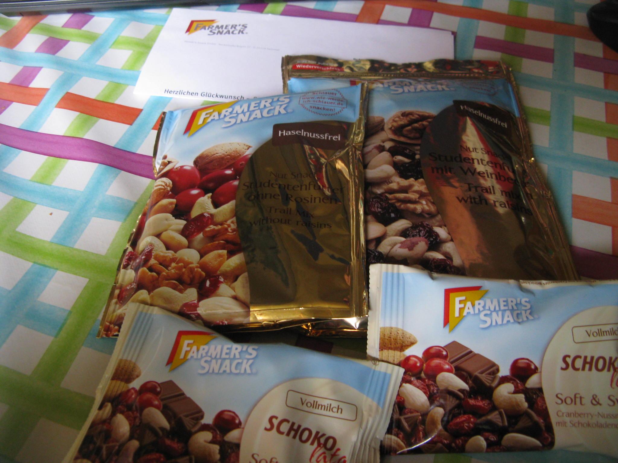 Studentenfutter von Farmer´s  Snack in verschiedene Varianten