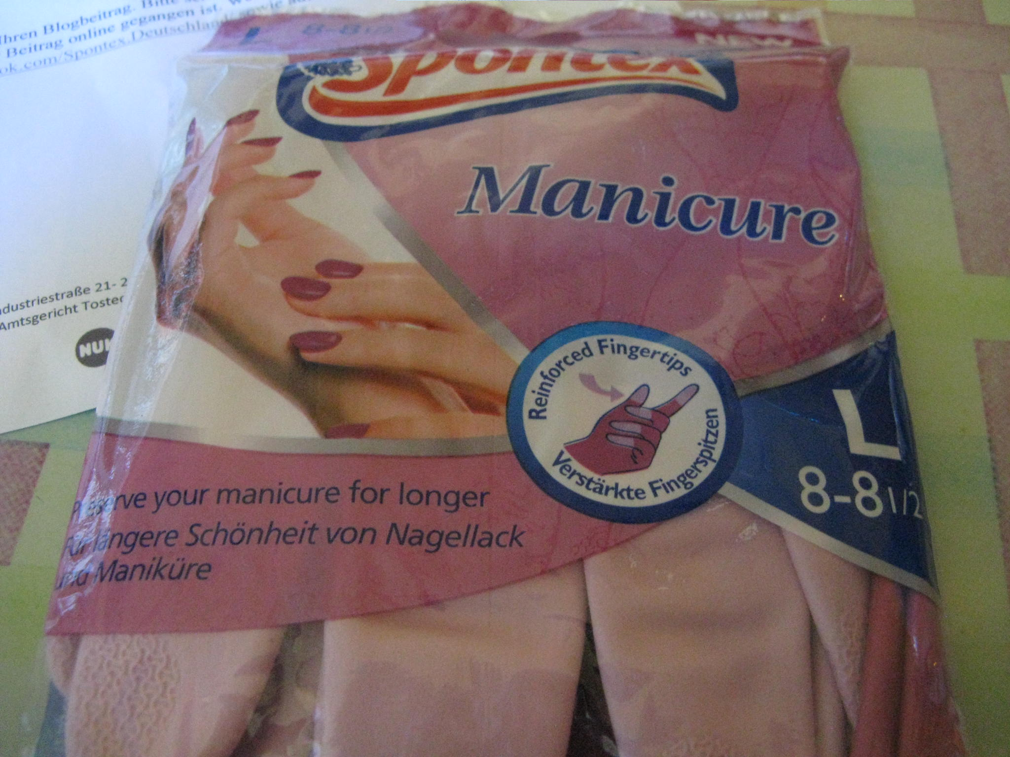 Spontex Manicure Handschuhe