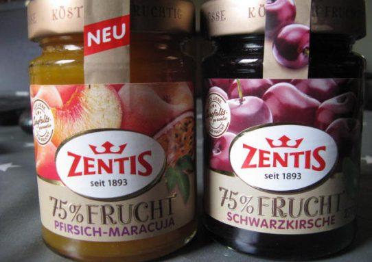 Zentis 75% Frucht Pfirsich-Maracuja und Klassische Sauerkirsche