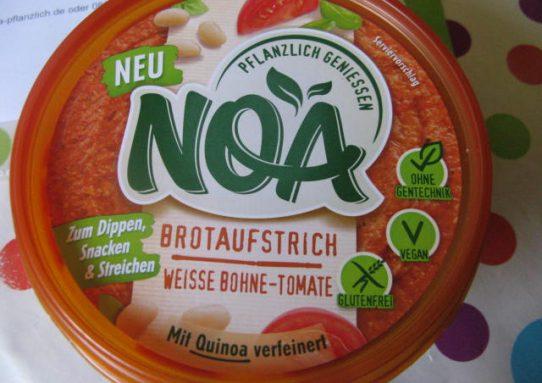 NOA pflanzlich geniessen! Brotaufstrich weiße Bohne - Tomate